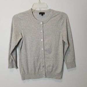 The Limited Gray 3/4 sleeves cardigan sweater
